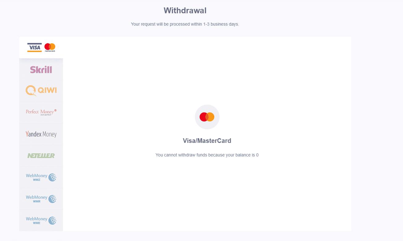 Withdrawal iq option broker