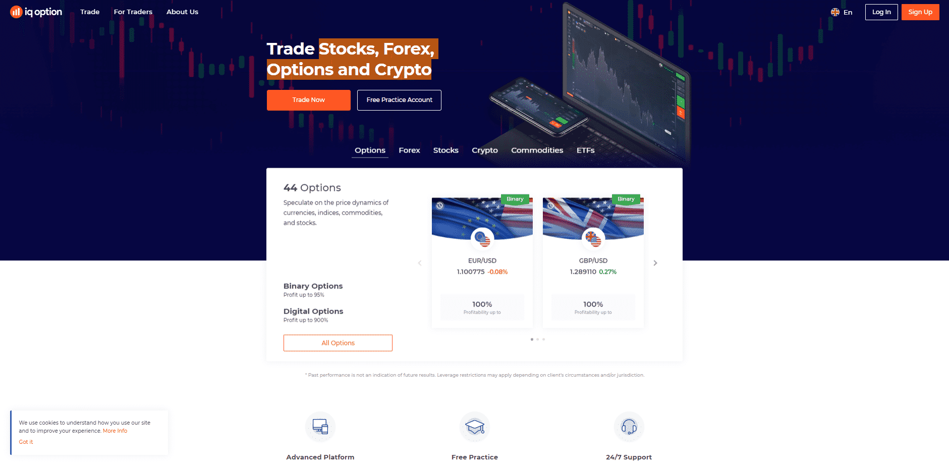 iq option login page